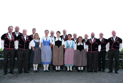 Le Jodlerklub Alpenrösli en soirée